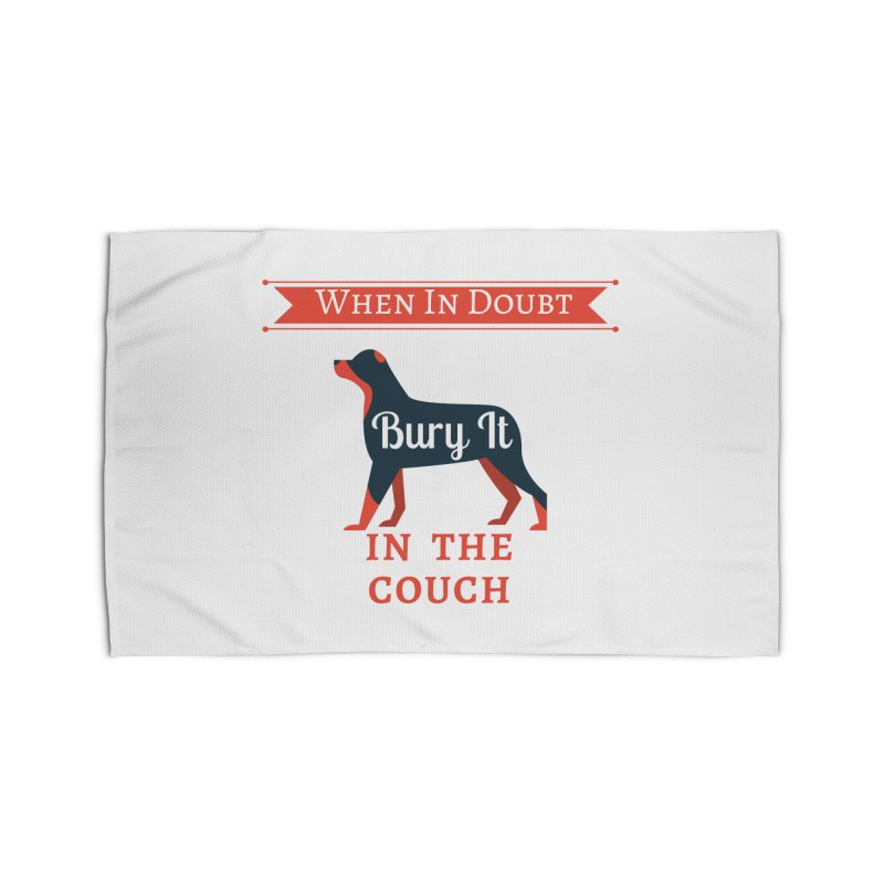 When In Doubt Bury It In The Couch Home Rug by The Outrider Outpost