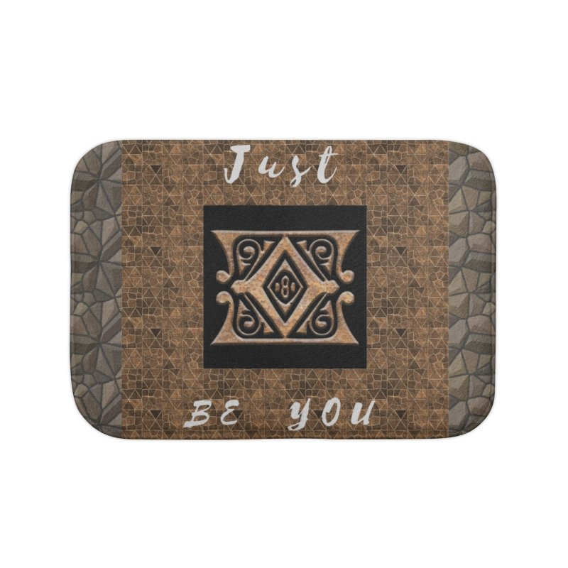 Just Be You Gold Diamond Home Bath Mat by The Outrider Outpost