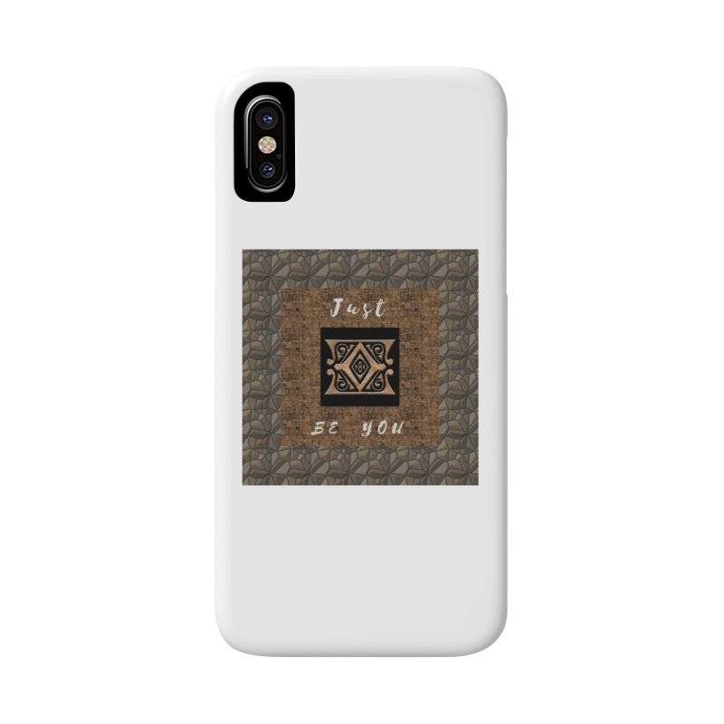 Just Be You Gold Diamond Accessories Phone Case by The Outrider Outpost