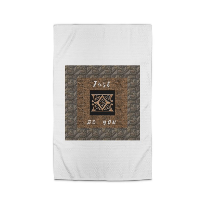 Just Be You Gold Diamond Home Rug by The Outrider Outpost