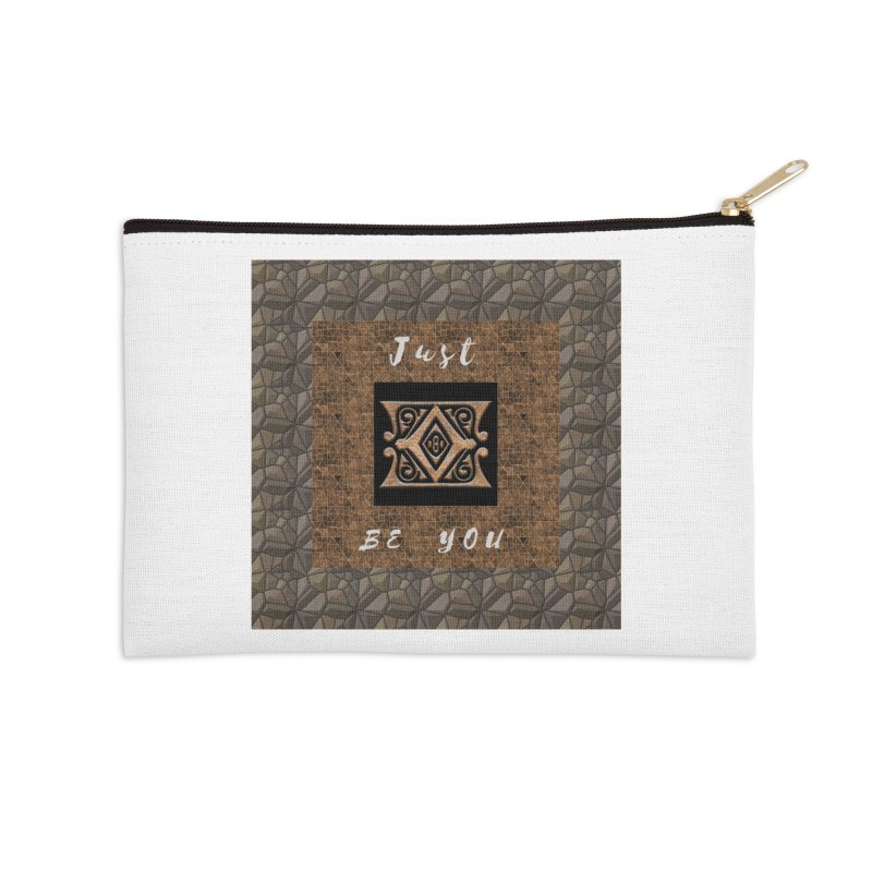 Just Be You Gold Diamond Accessories Zip Pouch by The Outrider Outpost