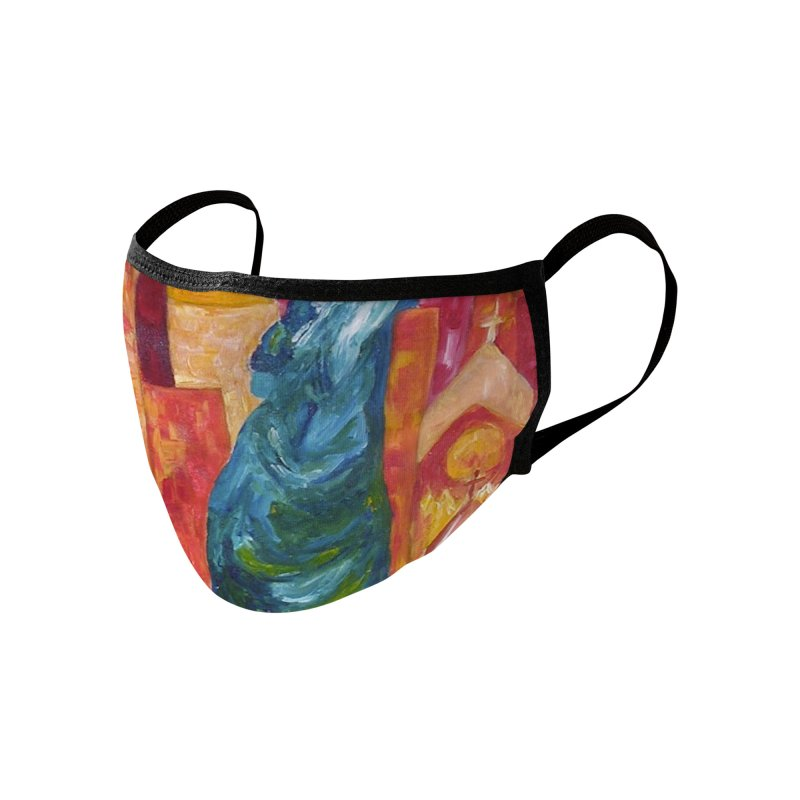 Statue of Liberty by Artist Rana Ryan Accessories Face Mask by Rana Ryan's Artist Shop