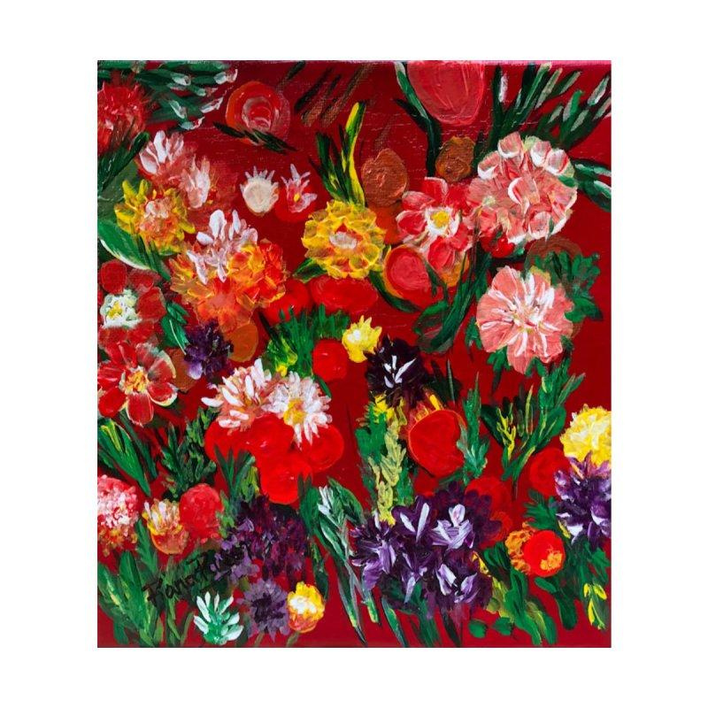 Valentine Flowers by Artist Rana Ryan Home Blanket by Rana Ryan's Artist Shop