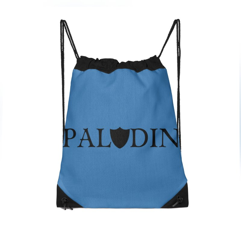 Paladin Accessories Drawstring Bag Bag by RandomEncounterProductions's Artist Shop