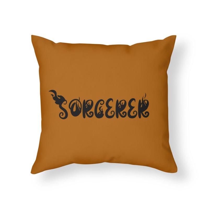 Sorcerer Home Throw Pillow by RandomEncounterProductions's Artist Shop