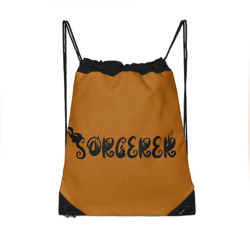 Sorcerer Accessories Drawstring Bag Bag by RandomEncounterProductions's Artist Shop