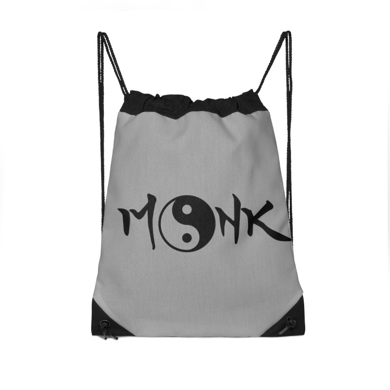 Monk Accessories Drawstring Bag Bag by RandomEncounterProductions's Artist Shop