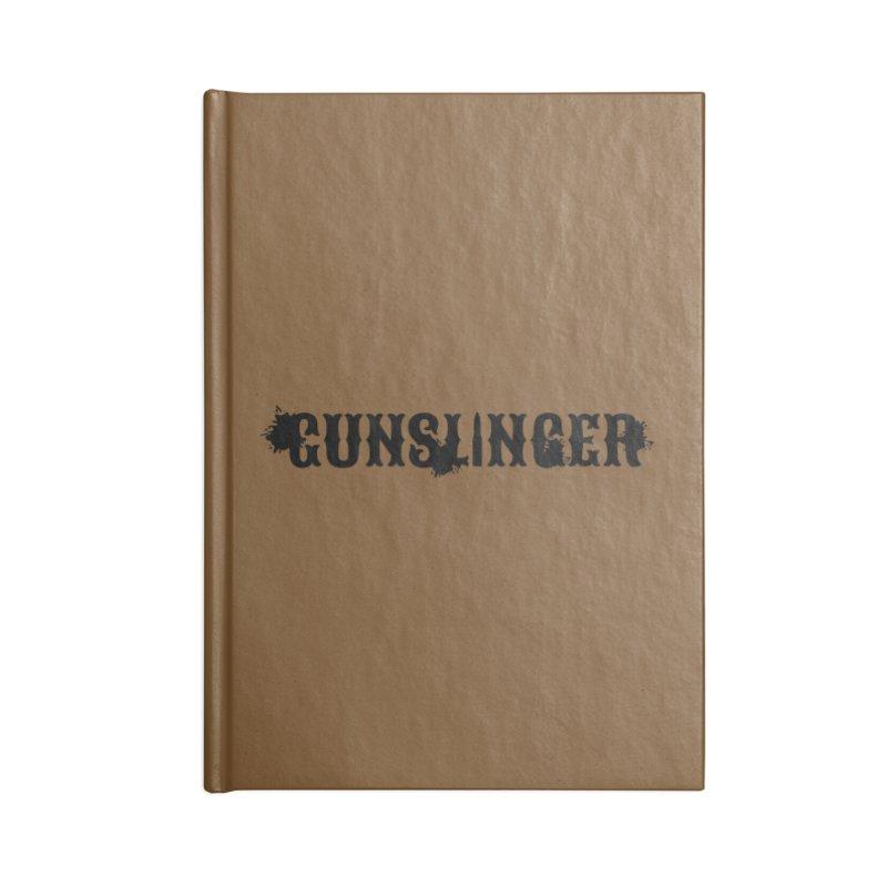 Gunslinger Accessories Lined Journal Notebook by RandomEncounterProductions's Artist Shop