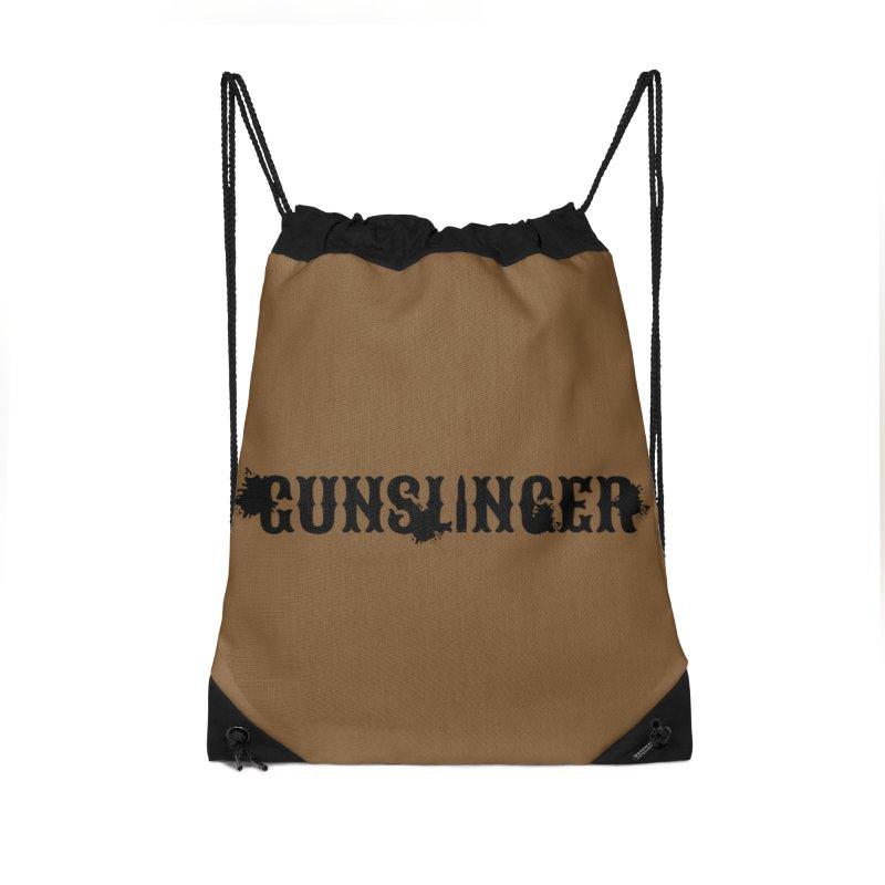 Gunslinger Accessories Drawstring Bag Bag by RandomEncounterProductions's Artist Shop