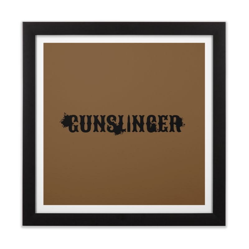 Gunslinger Home Framed Fine Art Print by RandomEncounterProductions's Artist Shop