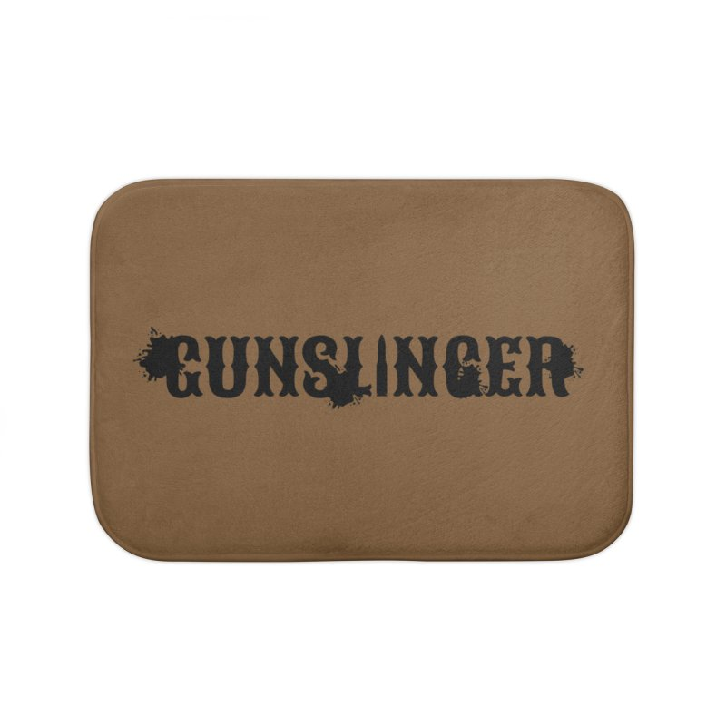 Gunslinger Home Bath Mat by RandomEncounterProductions's Artist Shop