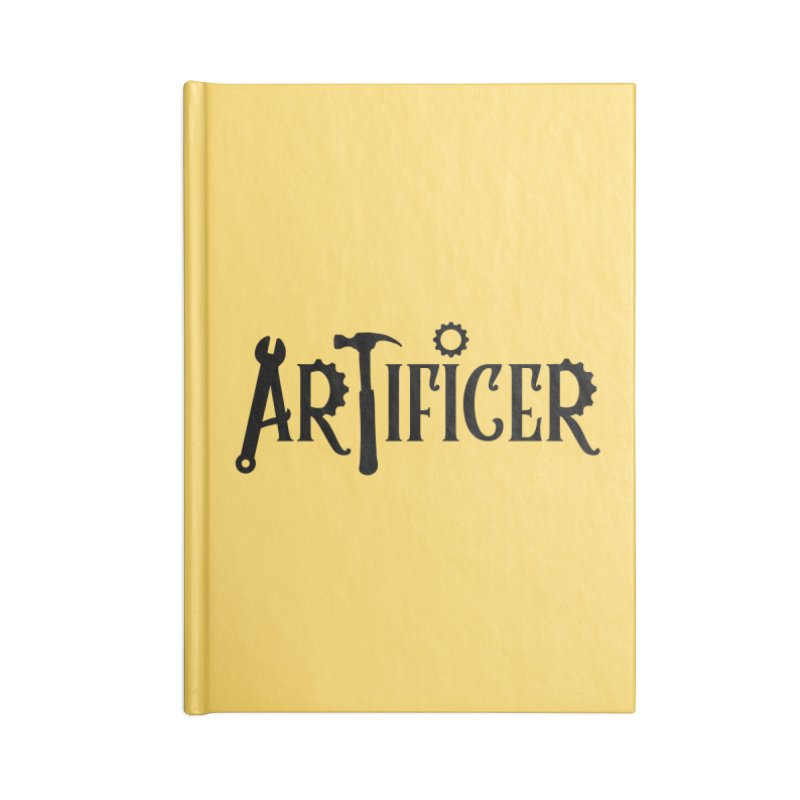 Artificer Accessories Lined Journal Notebook by RandomEncounterProductions's Artist Shop