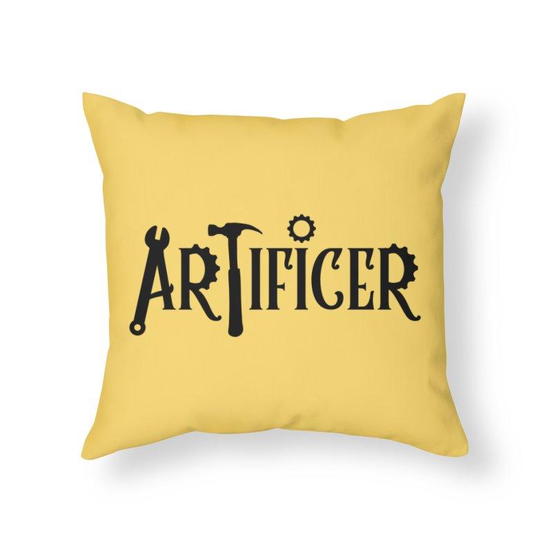 Artificer Home Throw Pillow by RandomEncounterProductions's Artist Shop