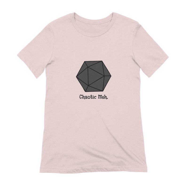 Chaotic Meh. Women's Extra Soft T-Shirt by RandomEncounterProductions's Artist Shop