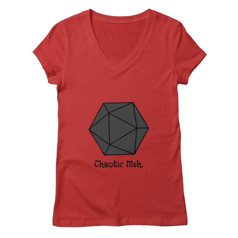 Chaotic Meh. Women's Regular V-Neck by RandomEncounterProductions's Artist Shop