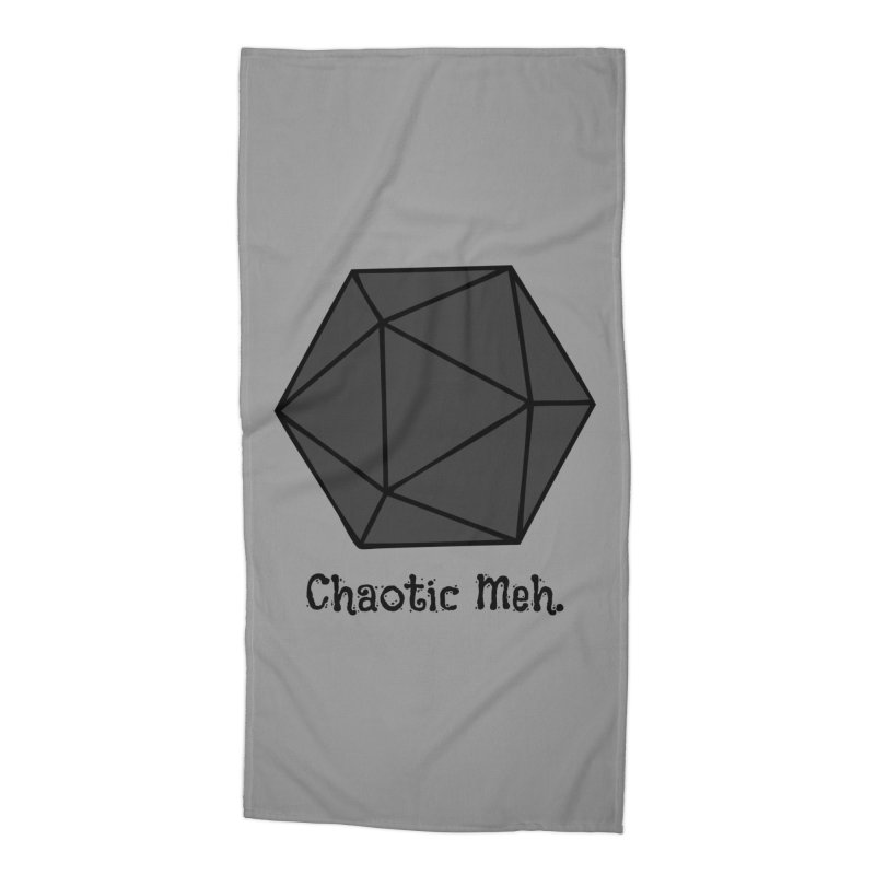 Chaotic Meh. Accessories Beach Towel by RandomEncounterProductions's Artist Shop
