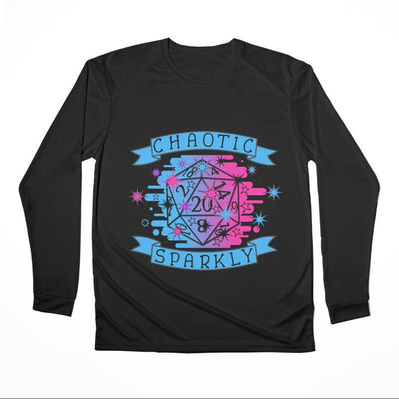 Chaotic Sparkly Men's Performance Longsleeve T-Shirt by RandomEncounterProductions's Artist Shop