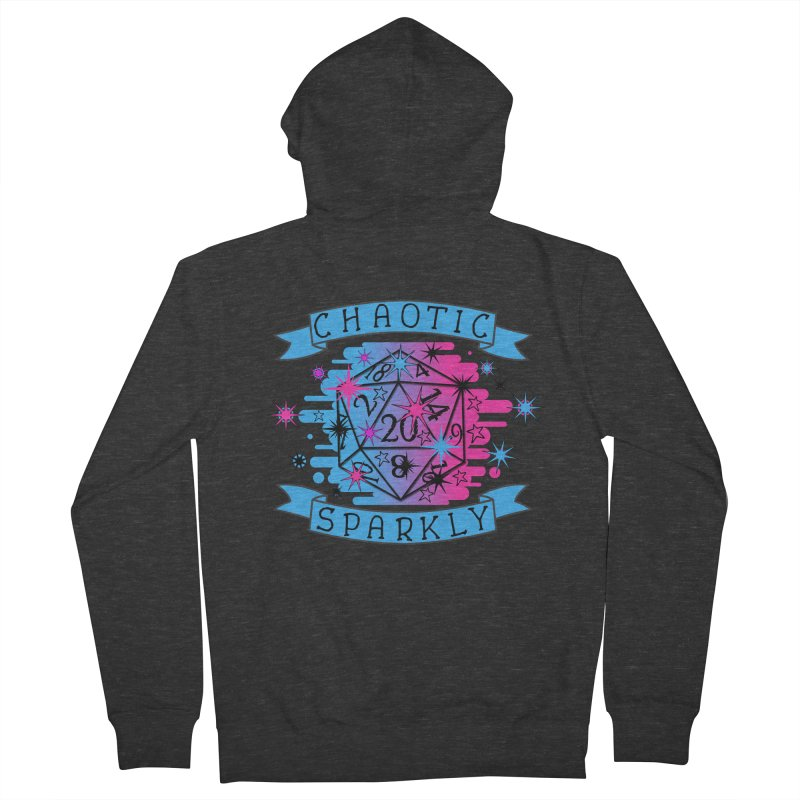 Chaotic Sparkly Women's French Terry Zip-Up Hoody by RandomEncounterProductions's Artist Shop