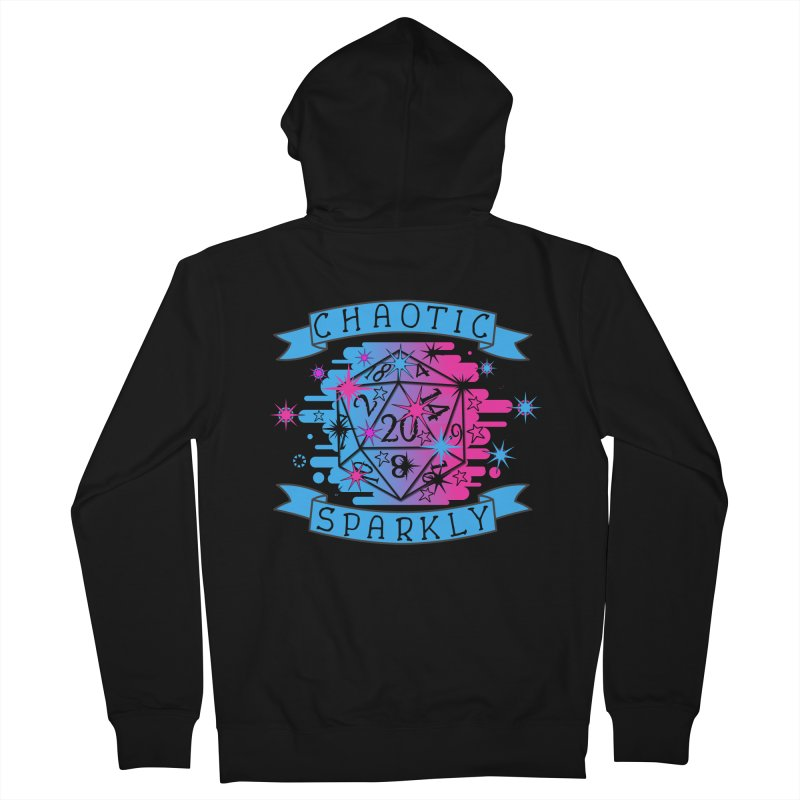 Chaotic Sparkly Men's French Terry Zip-Up Hoody by RandomEncounterProductions's Artist Shop
