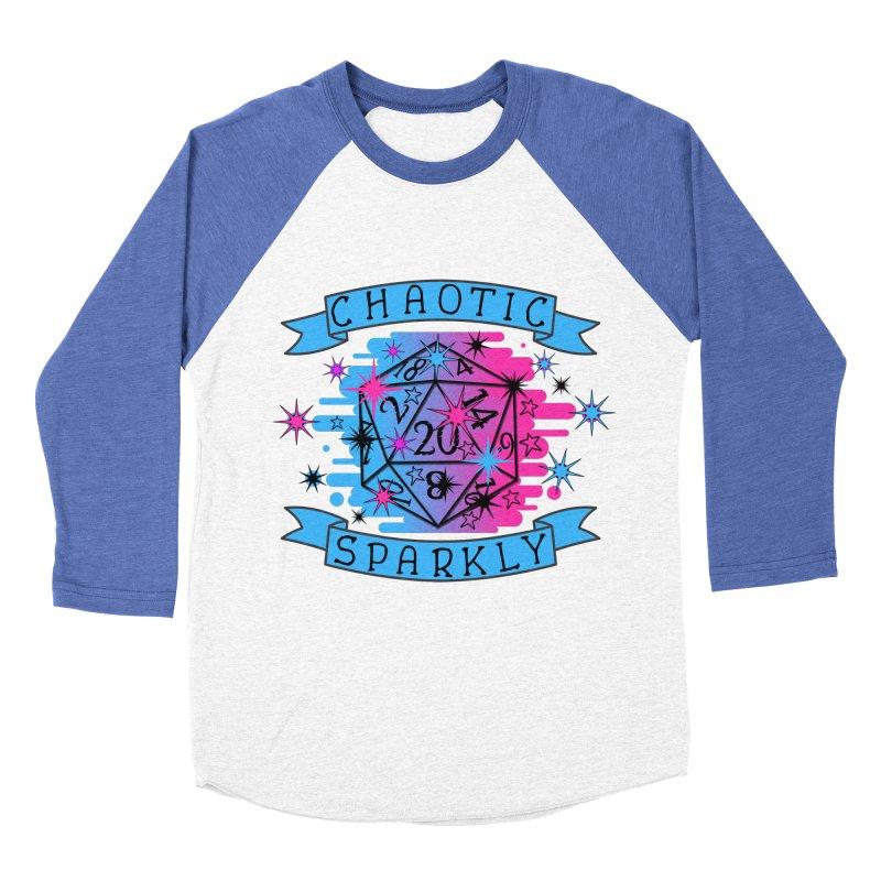 Chaotic Sparkly Men's Baseball Triblend Longsleeve T-Shirt by RandomEncounterProductions's Artist Shop