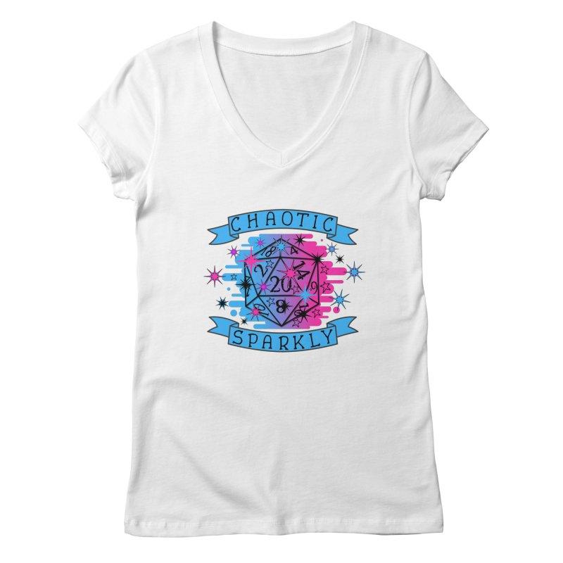 Chaotic Sparkly Women's Regular V-Neck by RandomEncounterProductions's Artist Shop