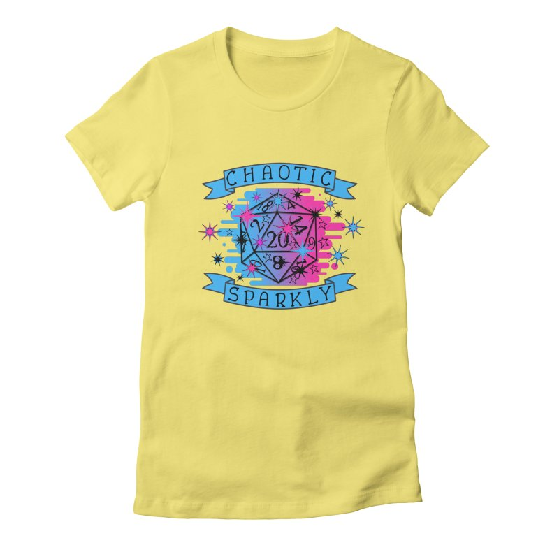 Chaotic Sparkly Women's Fitted T-Shirt by RandomEncounterProductions's Artist Shop