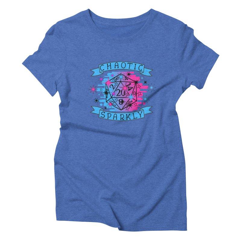 Chaotic Sparkly Women's Triblend T-Shirt by RandomEncounterProductions's Artist Shop