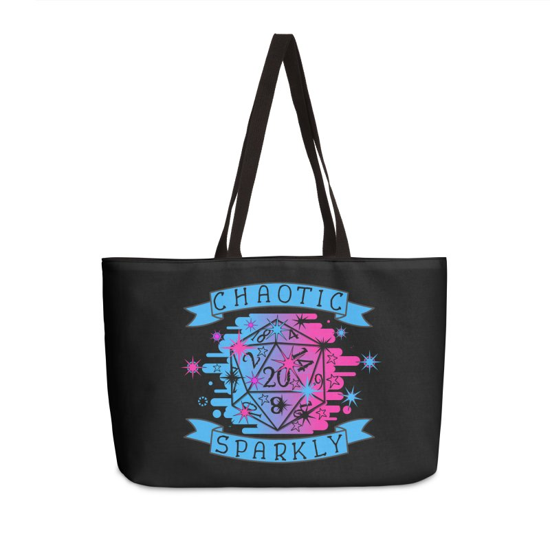 Chaotic Sparkly Accessories Weekender Bag Bag by RandomEncounterProductions's Artist Shop