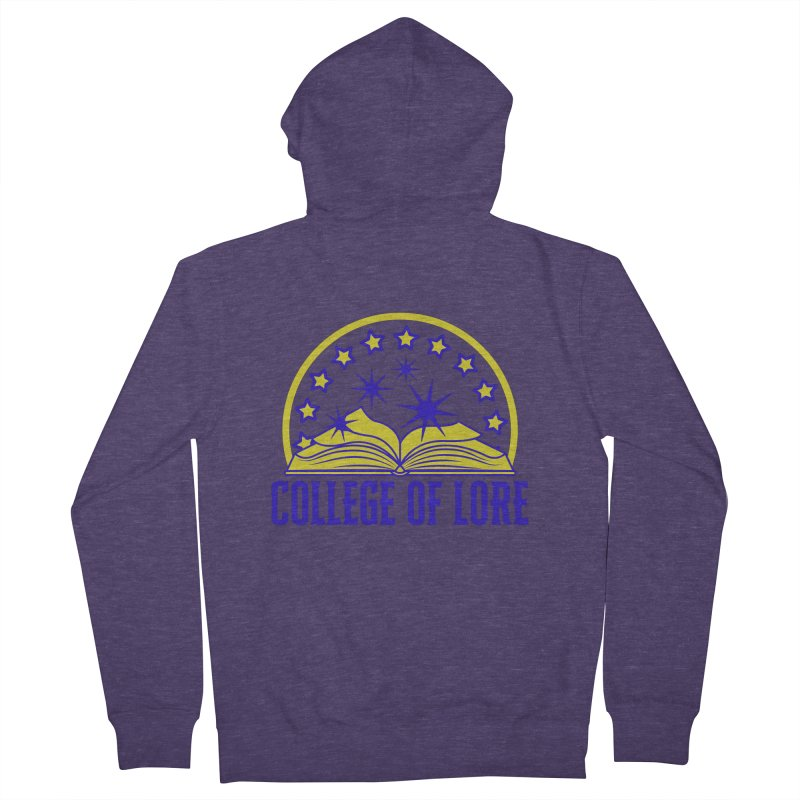 College of Lore Men's French Terry Zip-Up Hoody by RandomEncounterProductions's Artist Shop