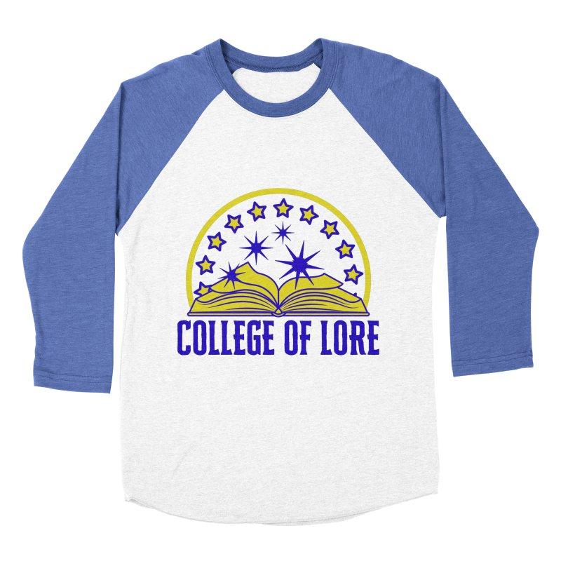 College of Lore Men's Baseball Triblend Longsleeve T-Shirt by RandomEncounterProductions's Artist Shop