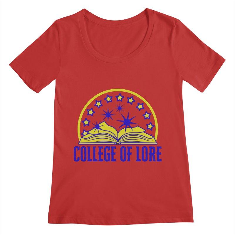 College of Lore Women's Regular Scoop Neck by RandomEncounterProductions's Artist Shop
