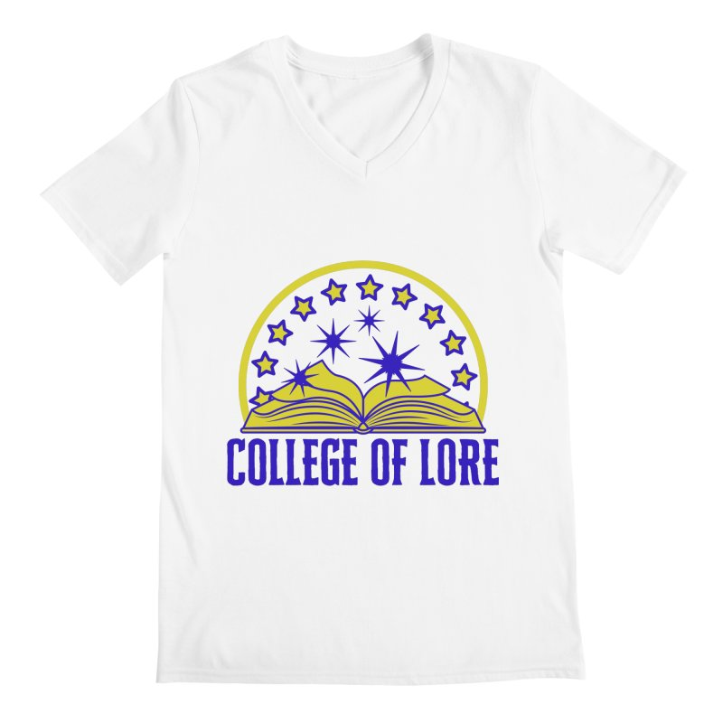 College of Lore Men's Regular V-Neck by RandomEncounterProductions's Artist Shop