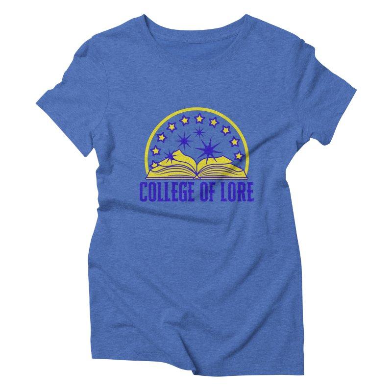 College of Lore Women's Triblend T-Shirt by RandomEncounterProductions's Artist Shop