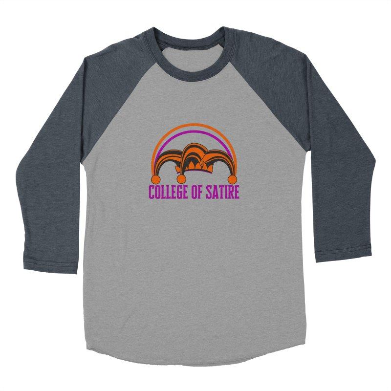 College of Satire Women's Baseball Triblend Longsleeve T-Shirt by RandomEncounterProductions's Artist Shop