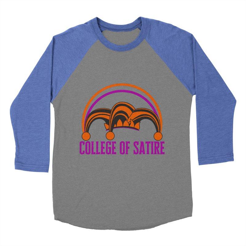 College of Satire Men's Baseball Triblend Longsleeve T-Shirt by RandomEncounterProductions's Artist Shop