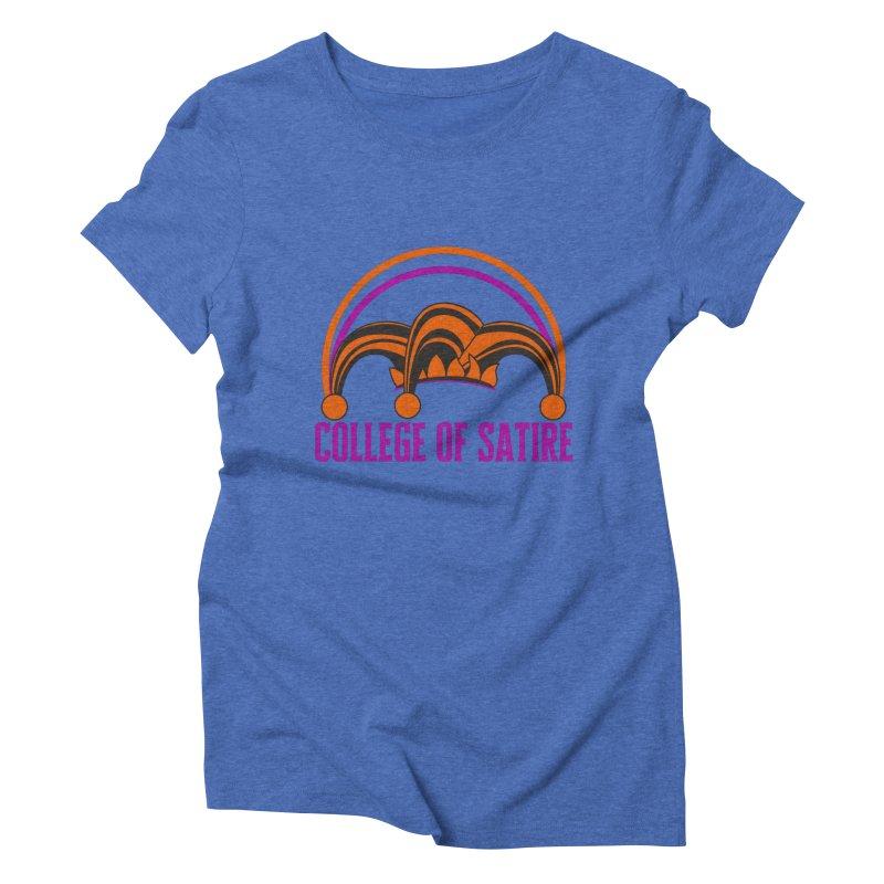 College of Satire Women's Triblend T-Shirt by RandomEncounterProductions's Artist Shop