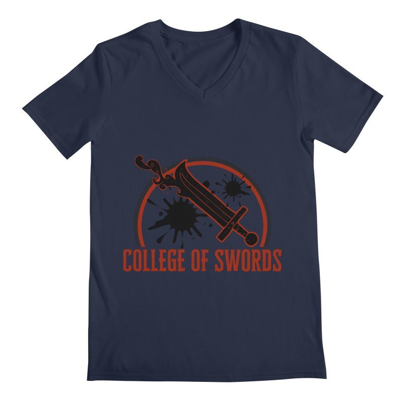College of Swords Men's Regular V-Neck by RandomEncounterProductions's Artist Shop