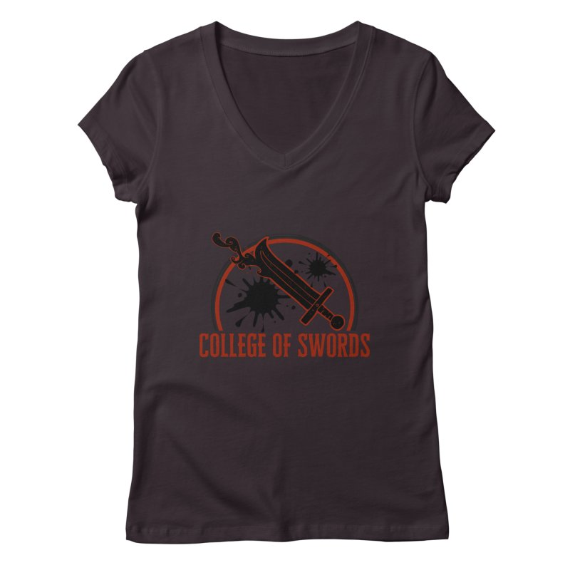 College of Swords Women's Regular V-Neck by RandomEncounterProductions's Artist Shop
