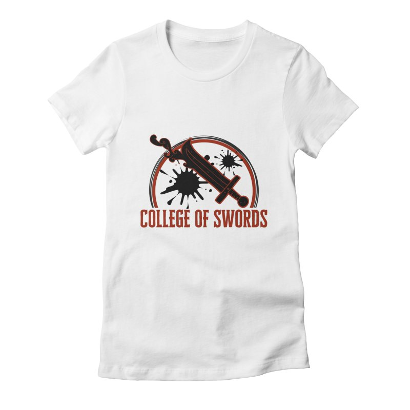 College of Swords Women's Fitted T-Shirt by RandomEncounterProductions's Artist Shop