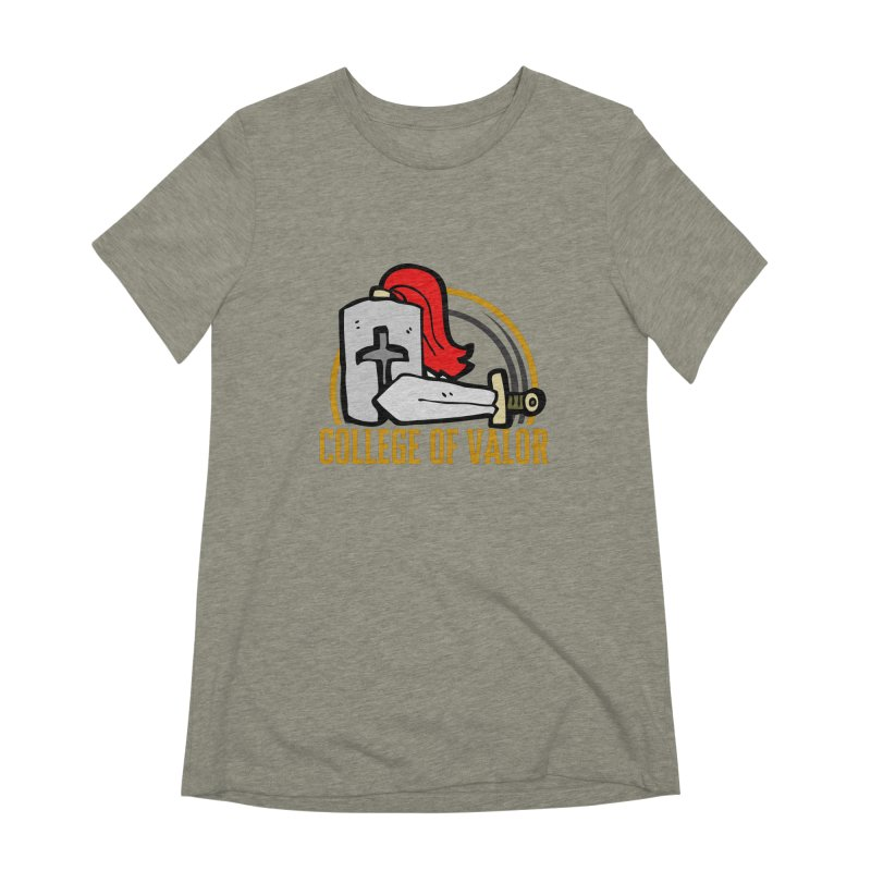 College of Valor Women's Extra Soft T-Shirt by RandomEncounterProductions's Artist Shop