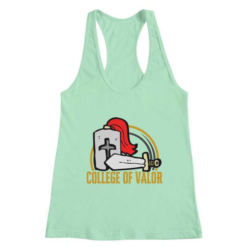 College of Valor Women's Racerback Tank by RandomEncounterProductions's Artist Shop