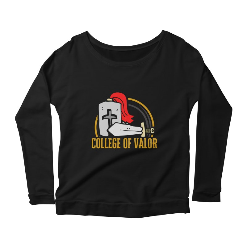 College of Valor Women's Scoop Neck Longsleeve T-Shirt by RandomEncounterProductions's Artist Shop
