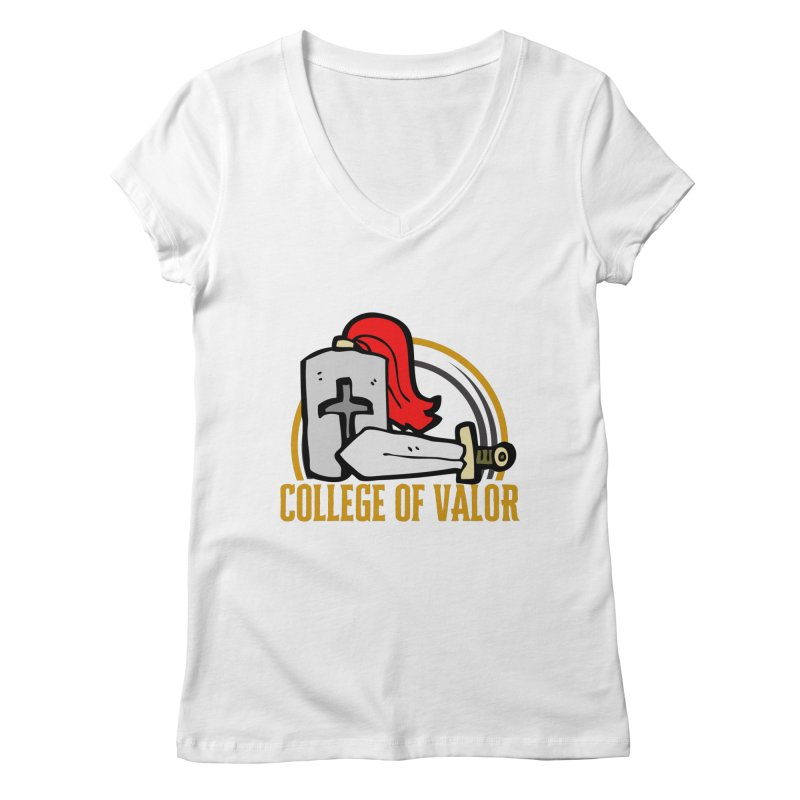 College of Valor Women's Regular V-Neck by RandomEncounterProductions's Artist Shop