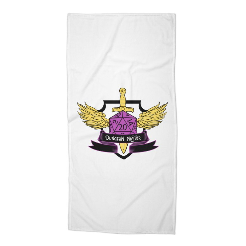 Dungeon Master: Non-Binary Accessories Beach Towel by RandomEncounterProductions's Artist Shop