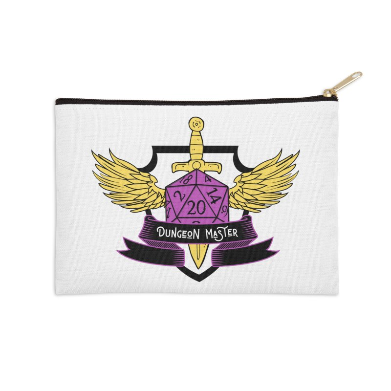 Dungeon Master: Non-Binary Accessories Zip Pouch by RandomEncounterProductions's Artist Shop