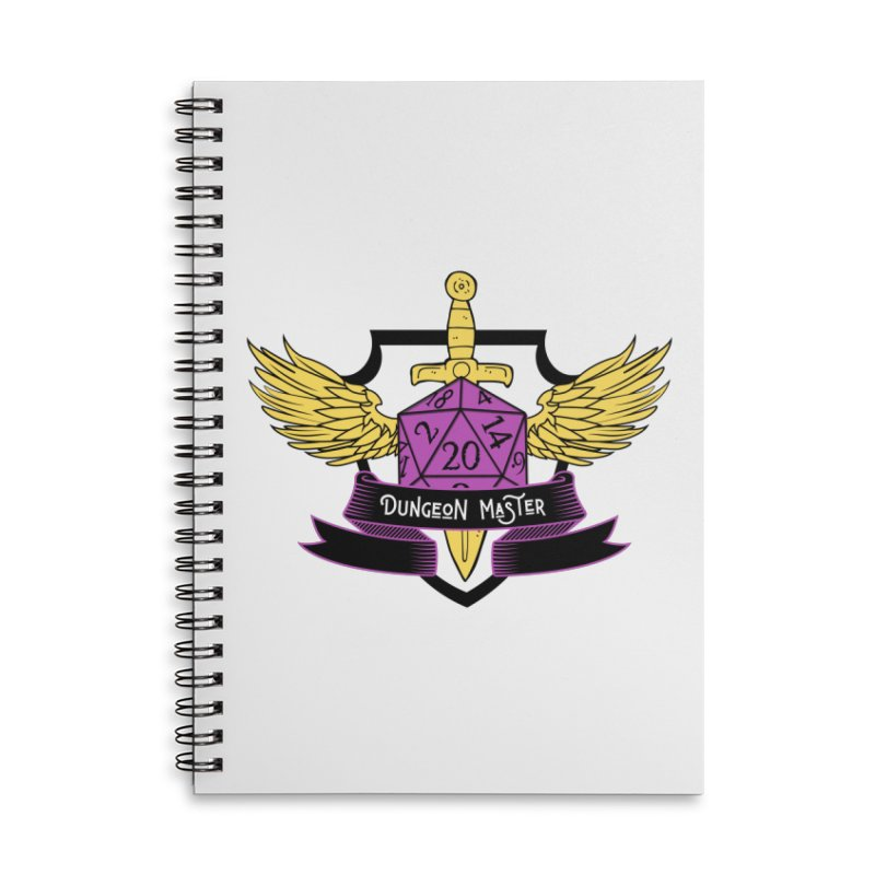 Dungeon Master: Non-Binary Accessories Lined Spiral Notebook by RandomEncounterProductions's Artist Shop