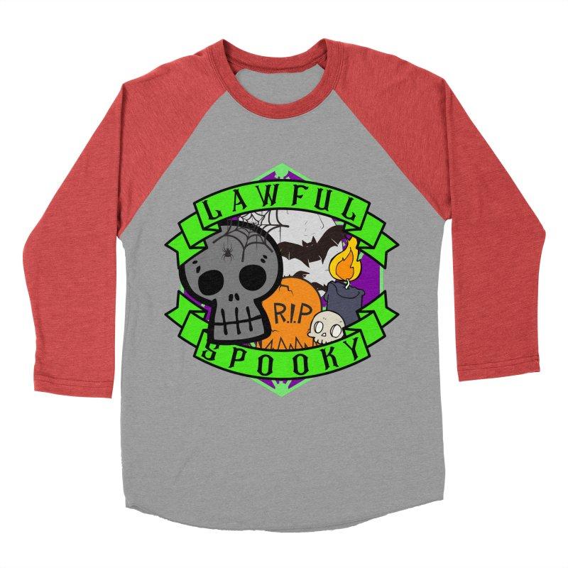 Lawful Spooky Men's Baseball Triblend Longsleeve T-Shirt by RandomEncounterProductions's Artist Shop