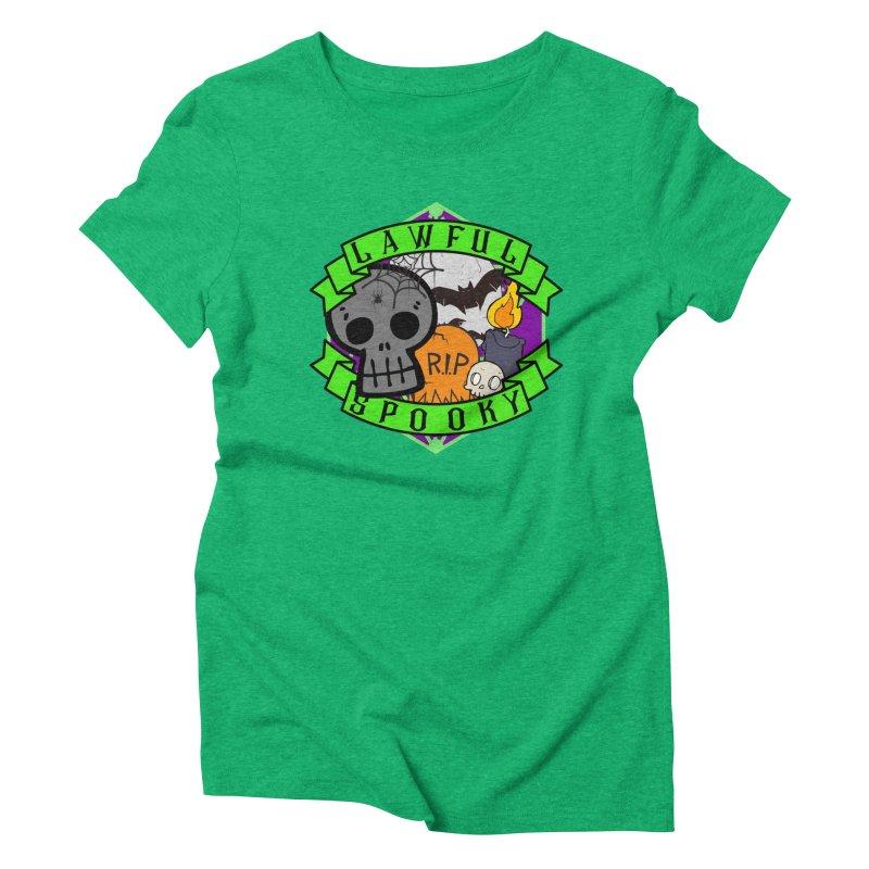 Lawful Spooky Women's Triblend T-Shirt by RandomEncounterProductions's Artist Shop