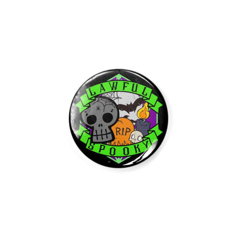 Lawful Spooky Accessories Button by RandomEncounterProductions's Artist Shop