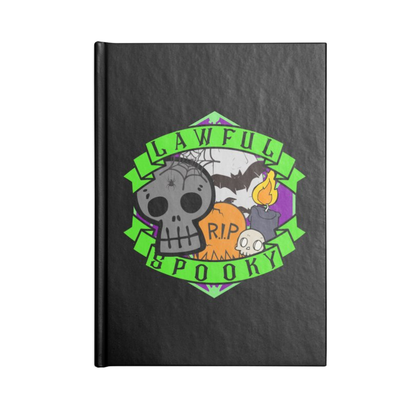Lawful Spooky Accessories Lined Journal Notebook by RandomEncounterProductions's Artist Shop